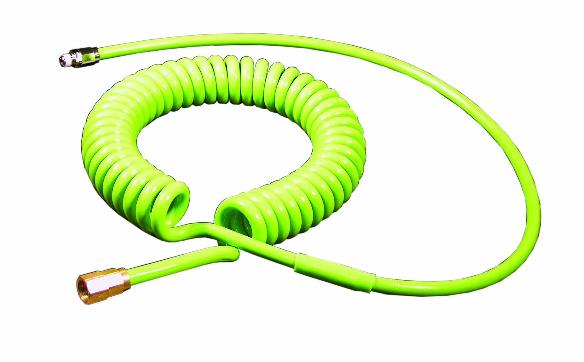 ATP Strong-Plus Polyurethane Spiral Hose, Orange, 13/32'' ID x 5/8'' OD, 20 feet Length/16 feet Working Length, 1/2'' NPT Male