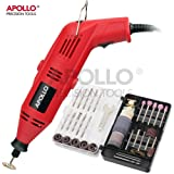 Apollo 135W Multi Purpose Rotary Combitool Multi-Tool & 120 Piece Mixed Accessory Kit in Storage Case. Compatible with Dremel Accessories