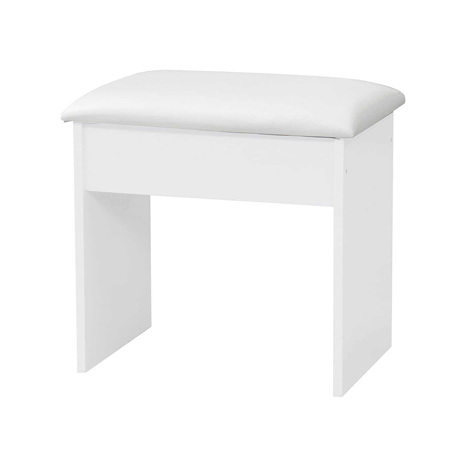 Alpha Dressing Table Stool In White Ark Furniture Wholesale AL-WHT04032ST