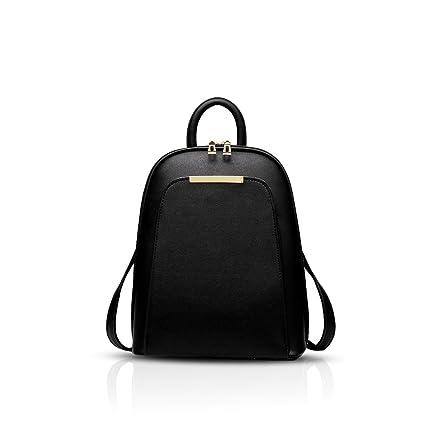 d42ca68a2da8 Nicole Doris New trend backpack shoulder bag ladies women dual-use college  wind fashion travel bag for students(Black)  Amazon.co.uk  Luggage