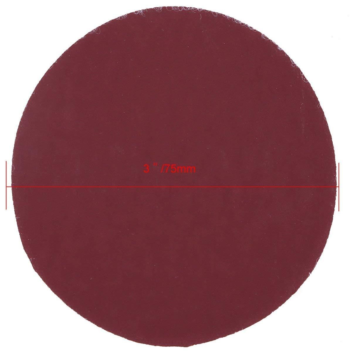 Hook&Loop Sanding Discs Paper, WHOSEE 180-Pack 3'' Orbital Sander Pad 20pcs Each 80 100 180 600 800 1000 1200 2000 3000 Grit