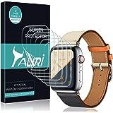 TAURI Schutzfolie Flüssigkeit Haut für Apple Watch Series 4 / 44mm Schutzfolie [6 Stücke] Flüssigkeit Haut [Wasser Installation] Klar HD TPU Folie Displayschutzfolie [Einfache Installation]