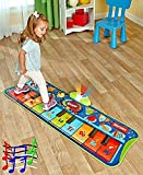 age 2 - Fun Step-to-Play Junior Battery Operated Piano Mat with Flashing Lights and 20 Demo Songs for Kids Ages 2+