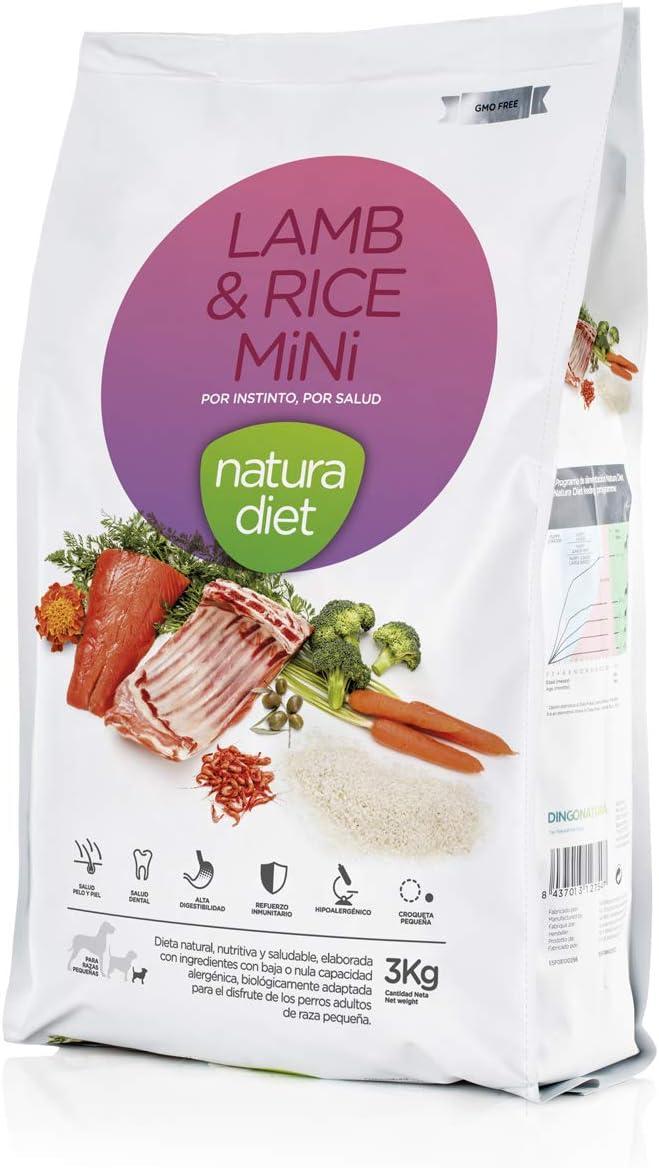 Natura Diet Comida Seca para Perros Cordero y Arroz Razas Mini - 3000 gr