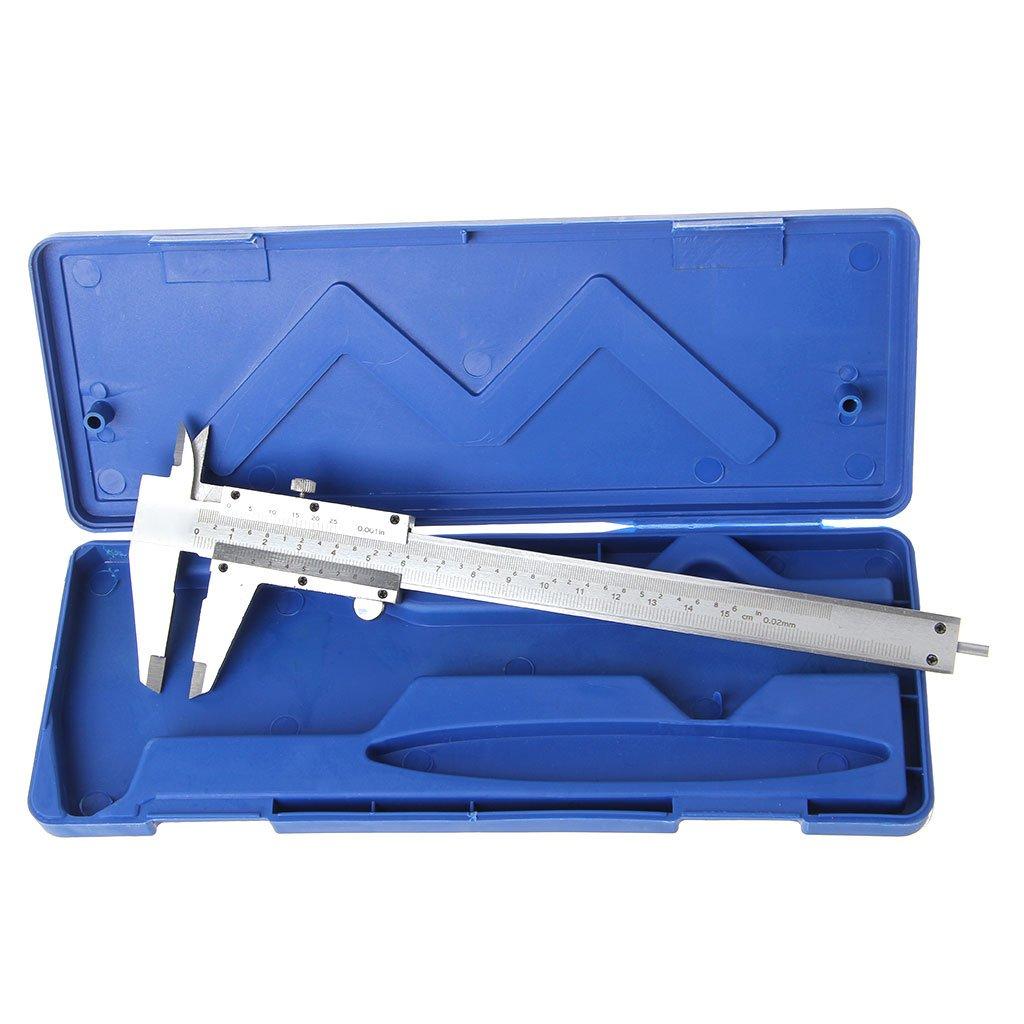 Besttse Vernier Caliper Gauge Metal Steel Measuring Tool 0.001-6'/ 0-150mm with Box