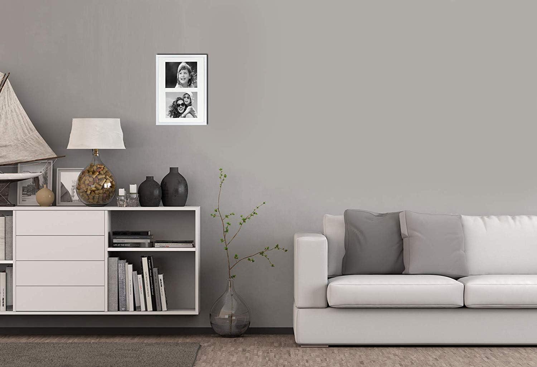 BD ART Cadre 18 x 35 cm Cadre Multi Photo pour 3 Photos 10 x 15 cm Noir Cadre triptyque