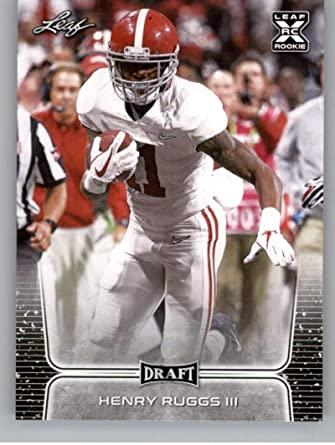 Trading Cards 2020 Leaf Valiant Green #HR3 Henry Ruggs III On Card ...