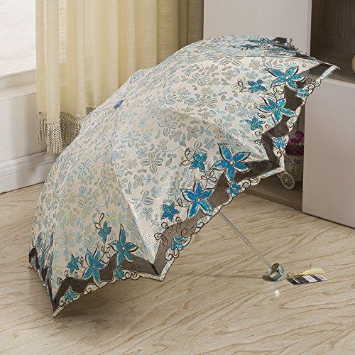 vent coupe C Protection soleil soleil pliée solaire de pare brodé UV soleil A Couleur Trois en ZZJ SX de dentelle Parapluie Lunettes Parapluie Parapluie tExwBBq6