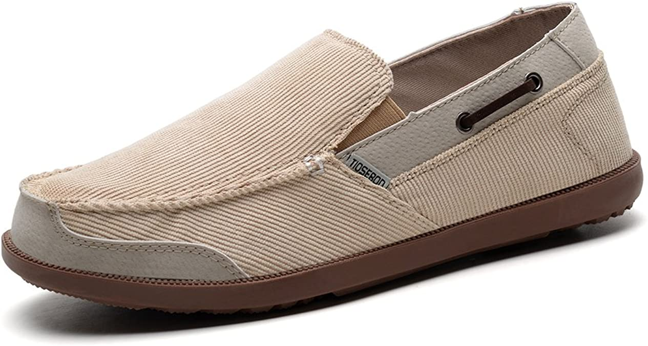 TALLA 39 2/3 EU. TIOSEBON Mocasines para hombre, cómodos, para caminar, zapatillas de conducción