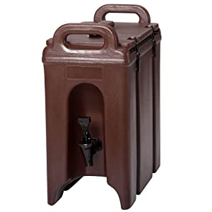 Cambro 250LCD 131 Dark Brown 2.5 Gal Beverage Camtainer