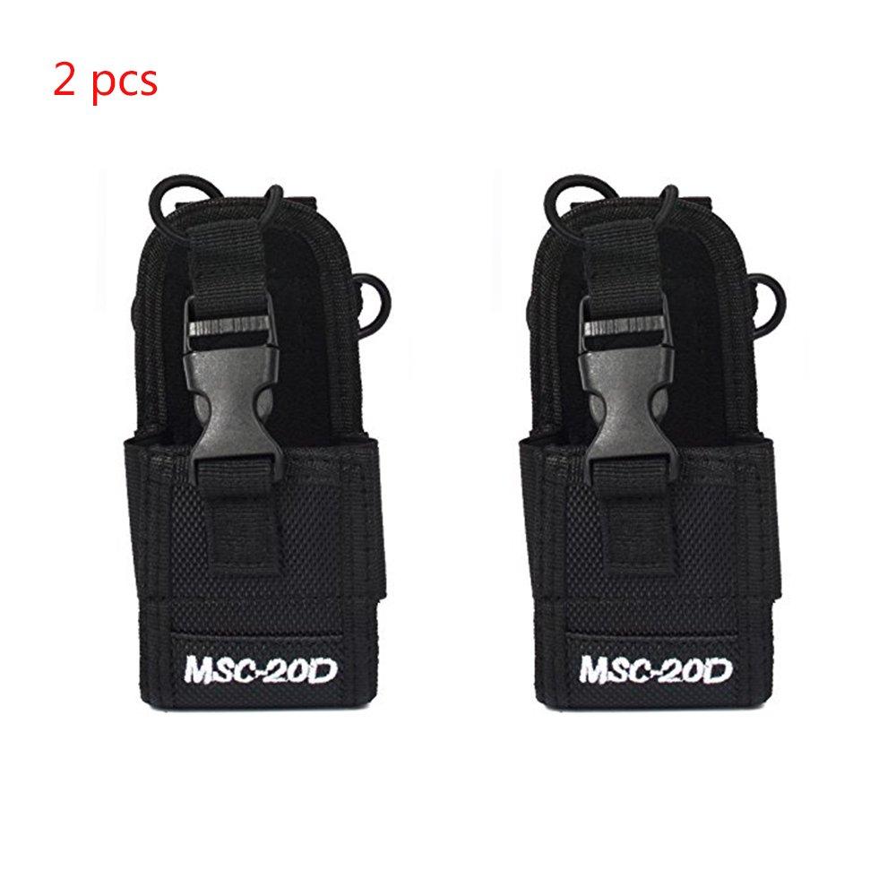 2 Pack of MSC-20D Walkie Talkie Pouch Nylon Radio Case Holster for Baofeng Motorola Kenwood Icom Radio