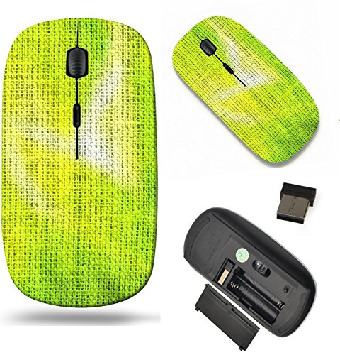 MSD Wireless Mouse Travel 2.4G Wireless Mice with USB Receiver, Noiseless and Silent Click with 1000 DPI for notebook, pc, laptop, computer, mac book design: 35321099 Brush Painted Green Burlap Linen