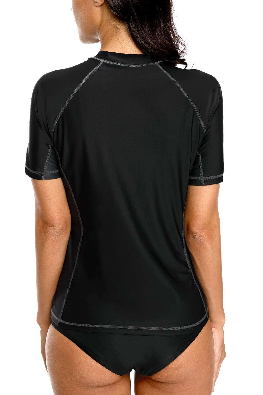 Charmleaks Short Sleeve Rashguard Swimwear UPF 50 Rash Guard Athletisch Tops
