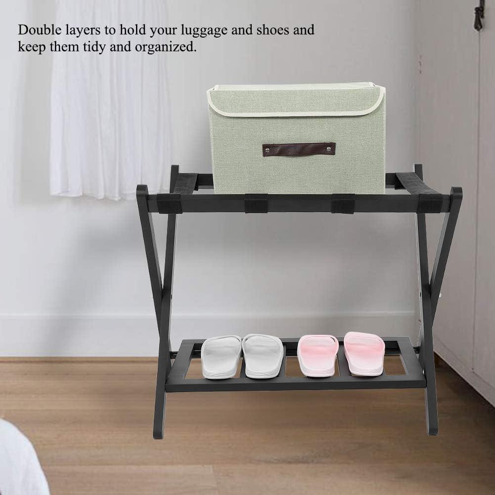 con soporte para organizar el hogar viajes para el hogar duradera estable con zapatero de almacenamiento Maleta plegable de madera para equipaje hotel