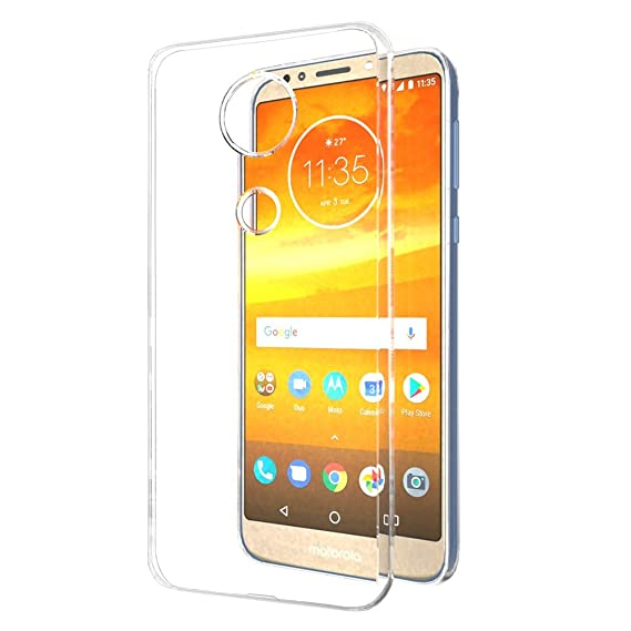 best service aba0d ecf72 Solimo Mobile Cover (Soft & Flexible Back case) for Moto E5 Plus  (Transparent)