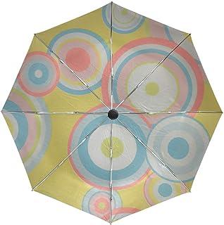 Lenenl Parapluie de Voyage Coupe-Vent à Fermeture Automatique légère et compacte Anti-UV