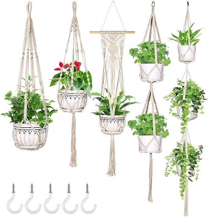 Hanging Planters Handmade Hanging Plant Holder Basket Flower Pot ...