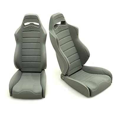 2 pièce 1/10 RC voiture accessories simulation caoutchouc siège de voiture chaises pour Axial Wraith 90018 1/10 RC Crawler voiture