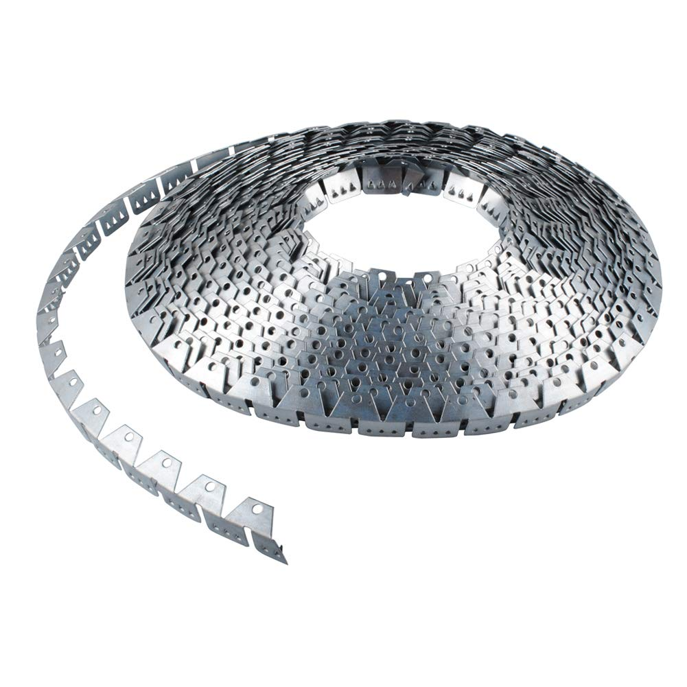 Flex-Grip, Curve Ease- 32 ft Flexible Metal Tack Strip Three-Tooth Upholstery by Wadoy (Image #3)