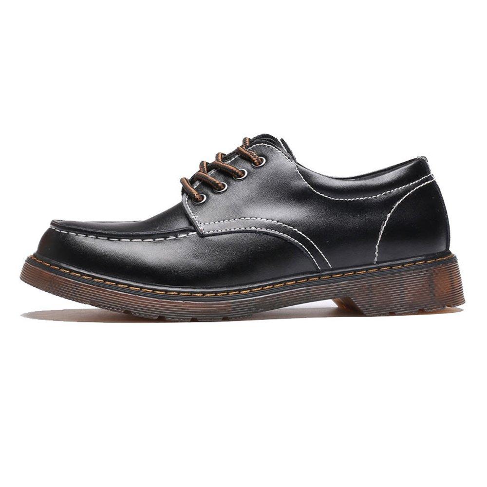 Hilotu Clearance Fashion Men's Shoes Genuine Leather Lece Up Outsole Oxfords Low Top Ankle Boots for Gentlemen (Color : Black, Size : 9.5 D(M) US)