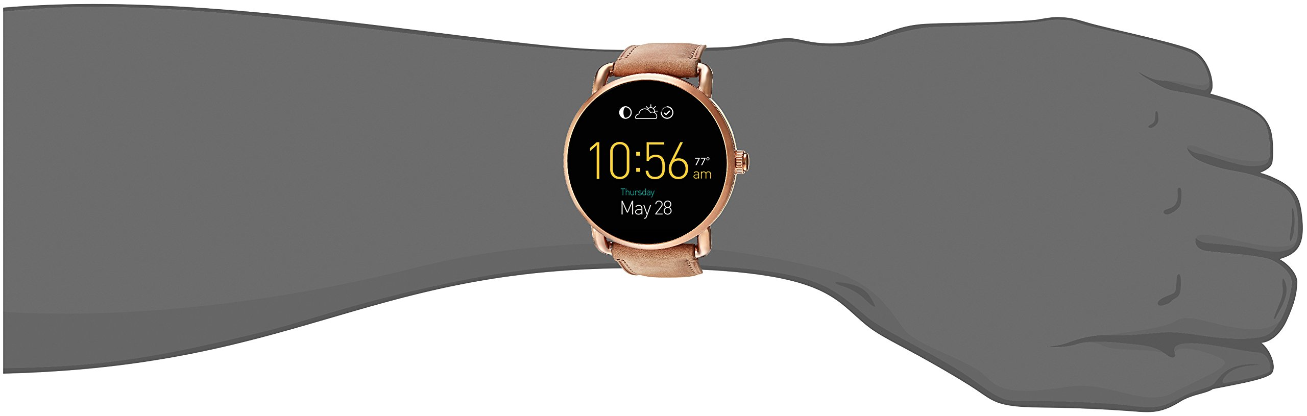 Fossil Q Wander Gen 2 Light Brown Leather Touchscreen Smartwatch FTW2102 by Fossil (Image #4)