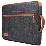 KIZUNA Laptop Tablet Sleeve 10 Inch Water-Resistant Computer Hand Bag for 9.7' 10.5' 11' iPad Pro/10.5' iPad Air/10 Microsoft Surface Go/10.5' Samsung Galaxy Tab/10.8' Huawei MediaPad M5 Pro, Brown