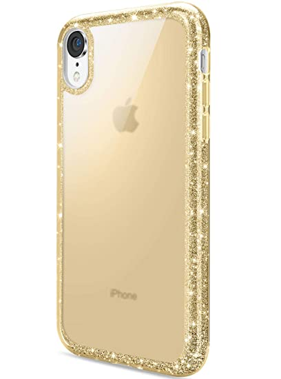 iphone xr case gold glitter