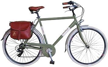 Via Veneto Bicicleta Clasica de Paseo - Retro Alu Uomo, Verde ...