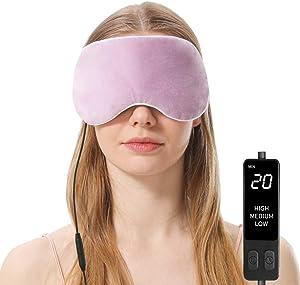 Heated Eye Mask, Steam Treatment for Dry Eyes, Warm Compress Moist Heat for Blepharitis, Dark Circle, Chalazion, Puffy Eyes, Stye Treatment(Purple)