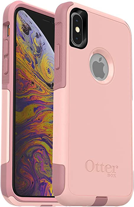 OtterBox COMMUTER SERIES Case for iPhone Xs & iPhone X - Retail Packaging - BALLET WAY (PINK SALT/BLUSH)