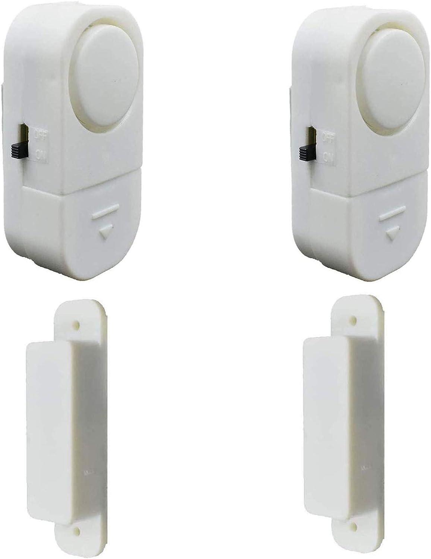 2 Pack, Wireless Door Window Alarm, Magnetic Burglar Alert Sensor with Batteries, Loud Door Alarms for Kids Safety, DIY for Home Security, Office Protection,Shopping Store