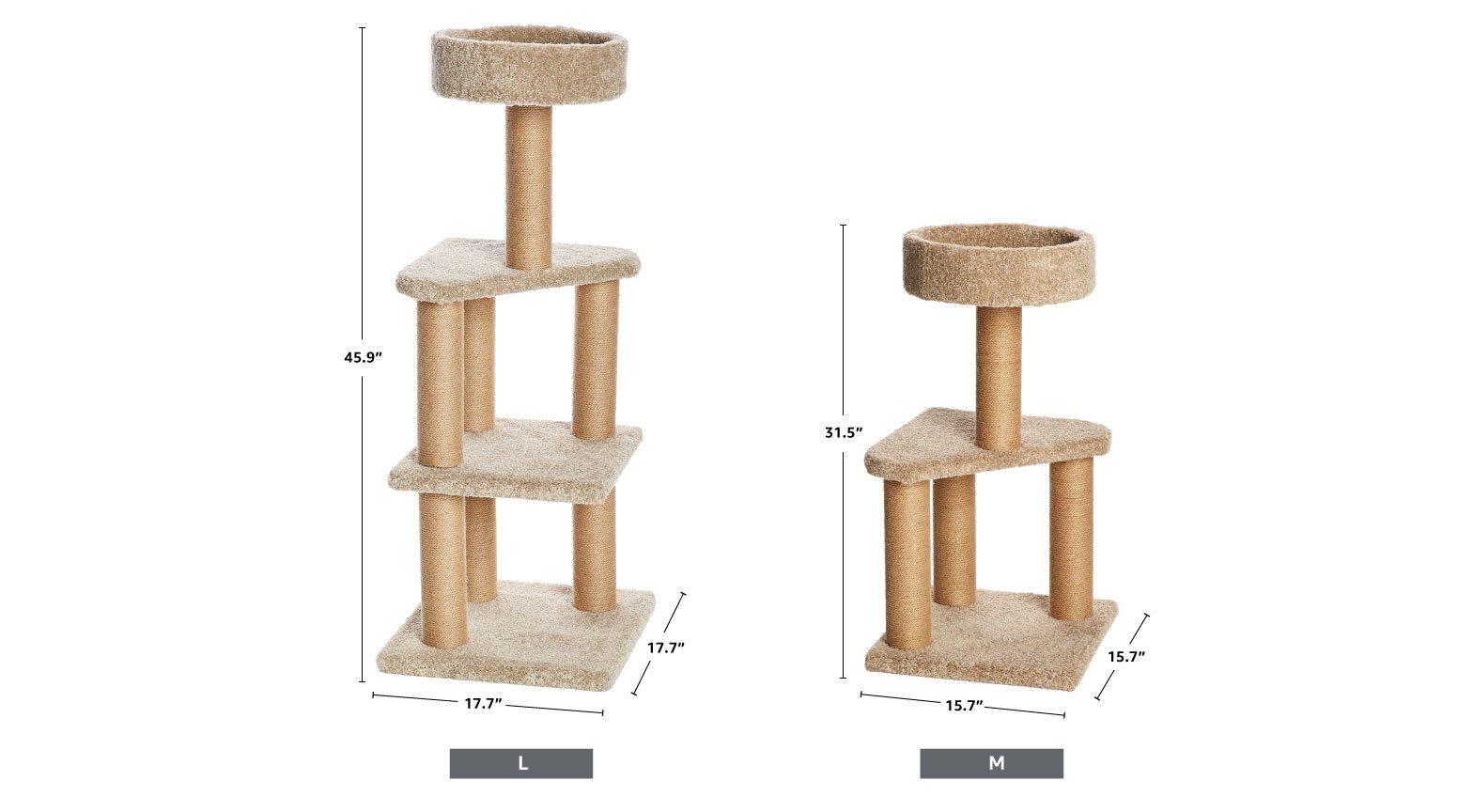 AmazonBasics Cat Activity Tree with Scratching Posts 6