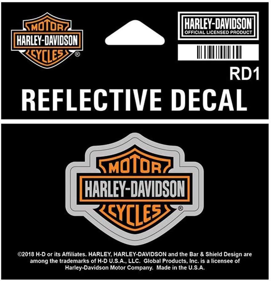 1.75 x 1.3125 inch RD1 XS Size Harley-Davidson Reflective Bar /& Shield Decal