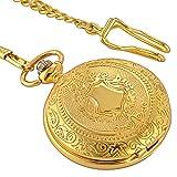 Smart.Deal Skeleton Watches Pocket Men Mechanical Luxury Gold Shield...