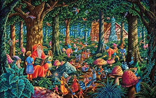 Fairytale Forest 550 Piece Jigsaw Puzzle by SunsOut (Fairy Forest)