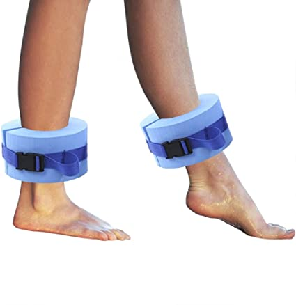 Blue Ankles Arms Belts with Quick Release Buckle for Swim Fitness Training Set of 2 Foam Swim Aquatic Cuffs TRRAPLE Swimming Ankle Bands Water Aerobics Float Ring