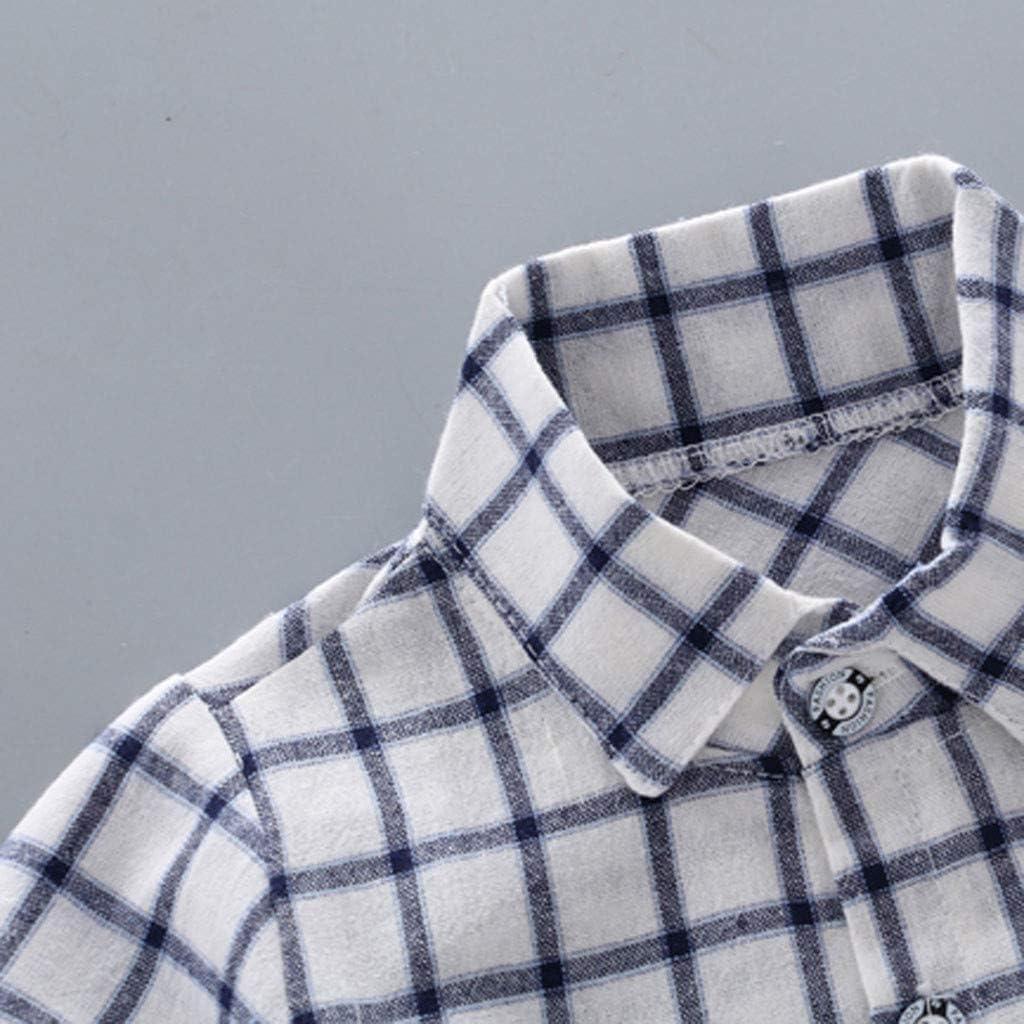 Shorts Outfits Set Fabal Infant Baby Boy Kid Gentleman Plaid Printed T Shirt