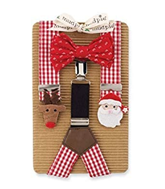 926f75d10815 Amazon.com: Boy's Suspenders & Bow Set: Mud Pie Boy's Christmas Bowtie & Suspender  Set: Infant And Toddler Suits: Clothing