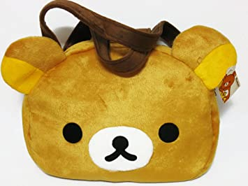570a09fee962 Image Unavailable. Image not available for. Color  Rilakkuma Face Brown Shoulder  Bag