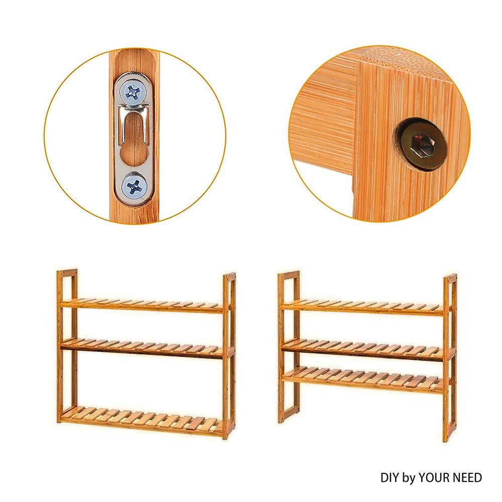 Easy Living Footwear Junction Fair Home: Trustiwood Bamboo Bathroom Shelf Adjustable 3-Tier