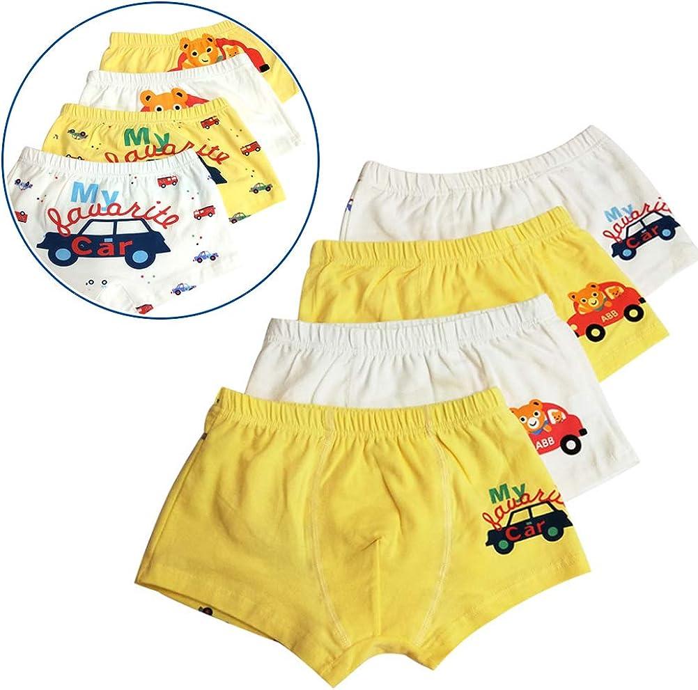 XM-Amigo Bear /& Car Little Boys Boxer Briefs Shorts 4 Pack Cotton Toddler Underwear for Kids 2-11 Years