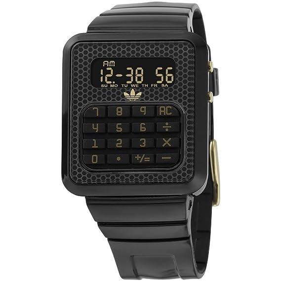 adidas Originals Unisex Reloj adh4020 Taipei con LCD Dial y Correa de PU negro: Amazon.es: Relojes