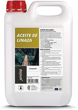 ACEITE DE LINAZA BARNIZ NATURA (100% PURO) Nutrición, protección y cuidado de la madera. (5 Litros): Amazon.es: Bricolaje y herramientas