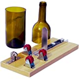Bottiglia di Vetro Cutter Macchina,Taglierina Bottiglia di Vetro per DIY Riciclano Orso Vasi Bottiglia di Vino Creazione, Fioriere Bottiglia, Lampade bottiglia, Portacandele, Wine Glass Cutter