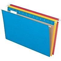 Pendaflex Essentials Hanging Folders, Legal Size, Assorted Colors, 25 per Box (81632)