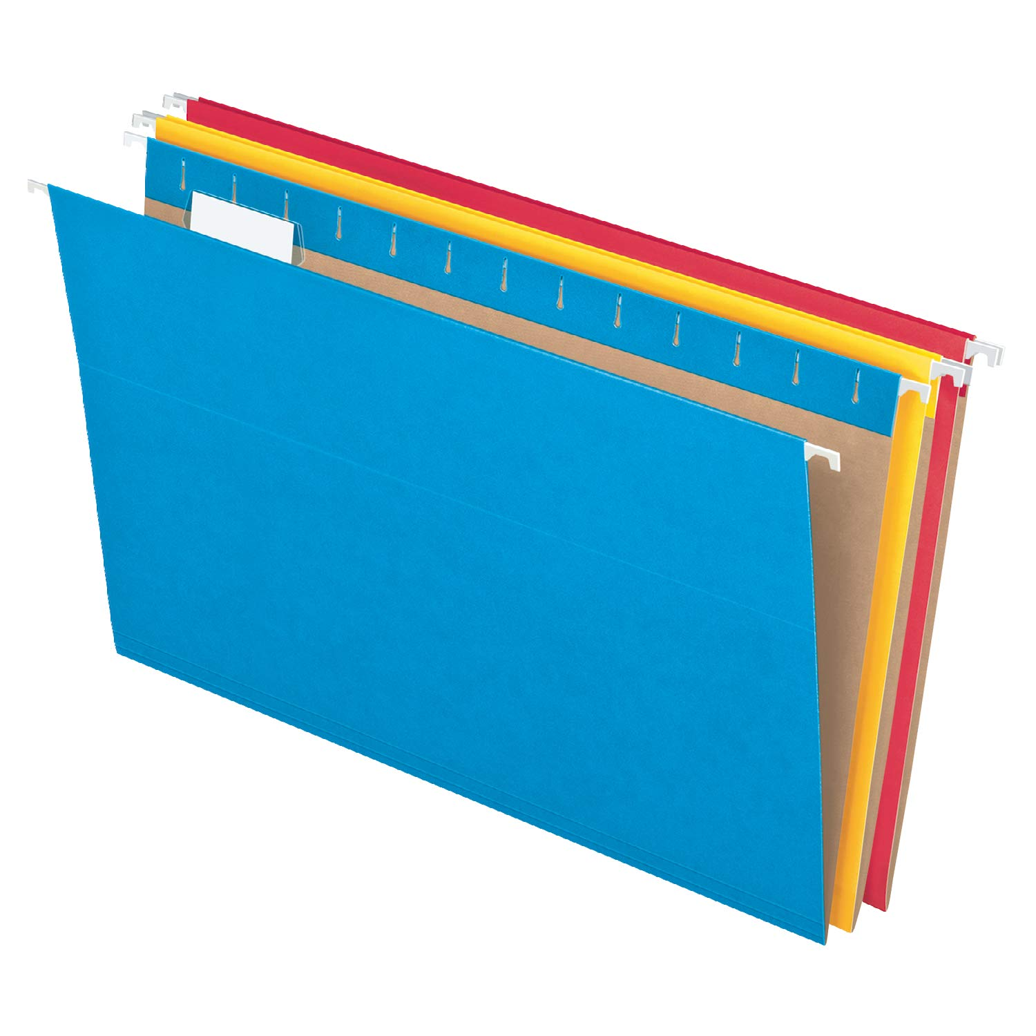 Pendaflex Recycled Hanging Folders, Legal Size, Assorted Colors, 1/5 Cut, 25/BX (81632) by Pendaflex