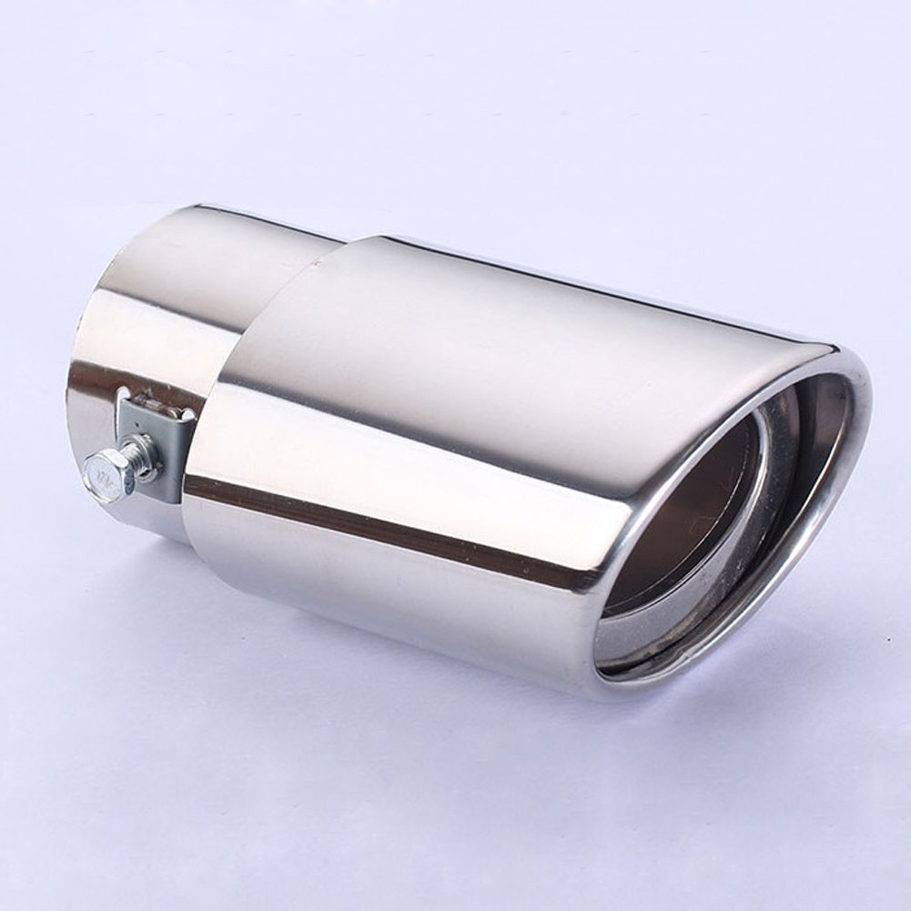 Dsycar Universal Stainless Steel Car Exhaust Tail Muffler Tip Pipes Fit Pipe Silver Fit Pipe Diameter 1.5 to 2.3 inch
