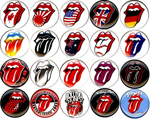 Stone Button - ROLLING STONES 20 NEW 1