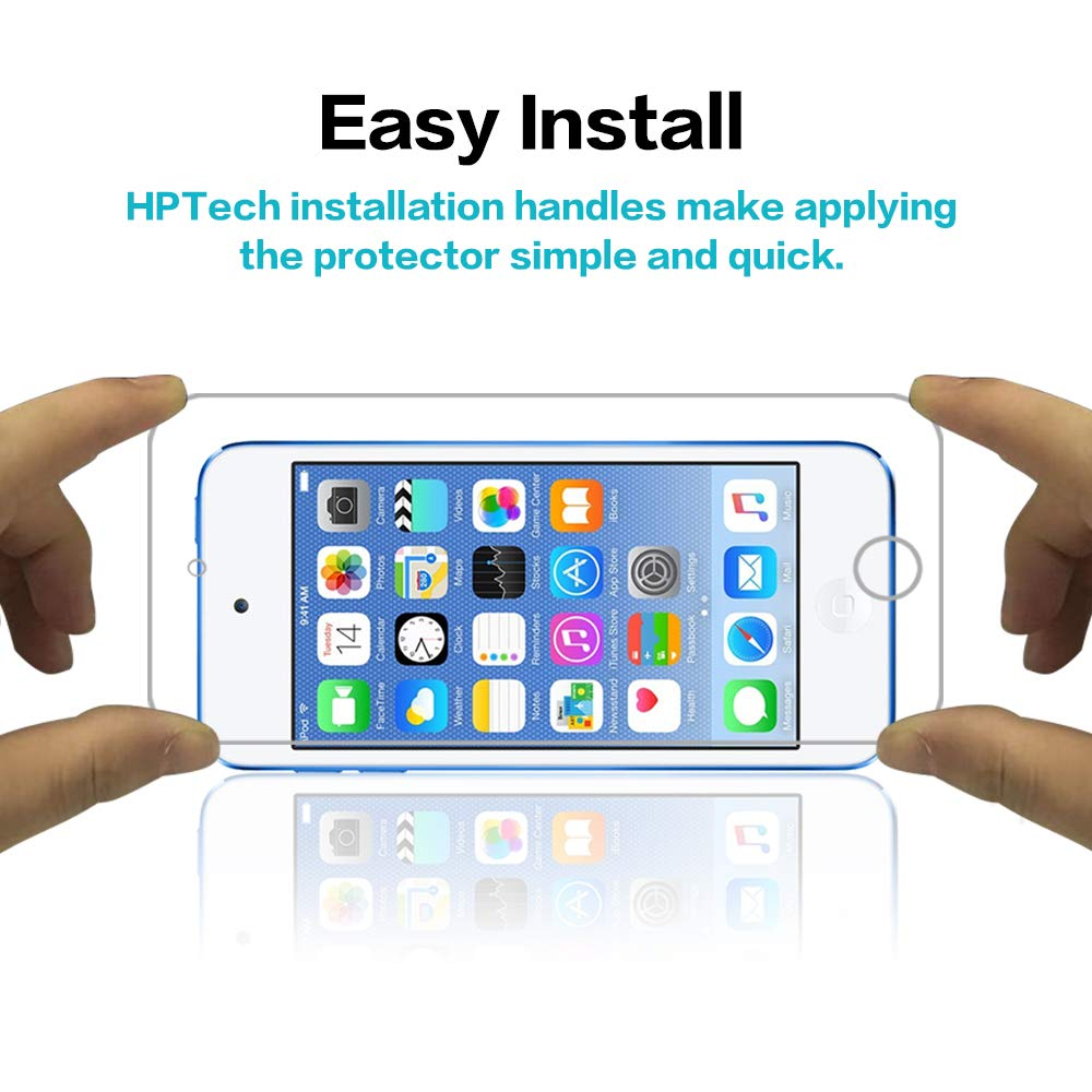 HPTech Screen Protector for iPod Touch - with Lifetime Replacement Warranty 7th Gen 2019 Released // 6th /& 5th Generation Tempered Glass for Apple New iPod Touch 2-Pack Bubble Free