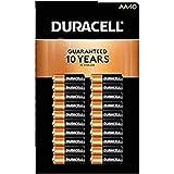 Duracell MN1500 Duralock Copper Top Alkaline AA Batteries - 40 Pack (Tamaño: 40 count)